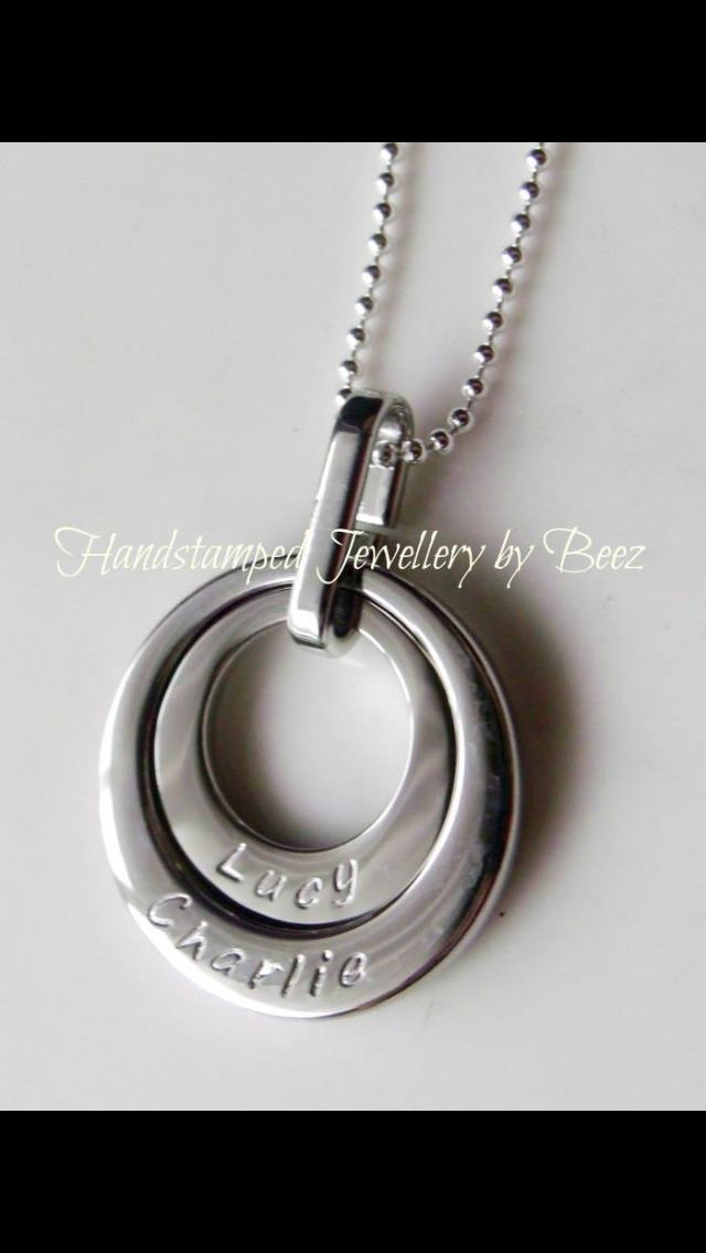 Only $45 today only at www.handstampedbybeez.com in silver, yellow or rose gold finish and can be personalised with any names you choose! Aussie made, will arrive in time for Christmas