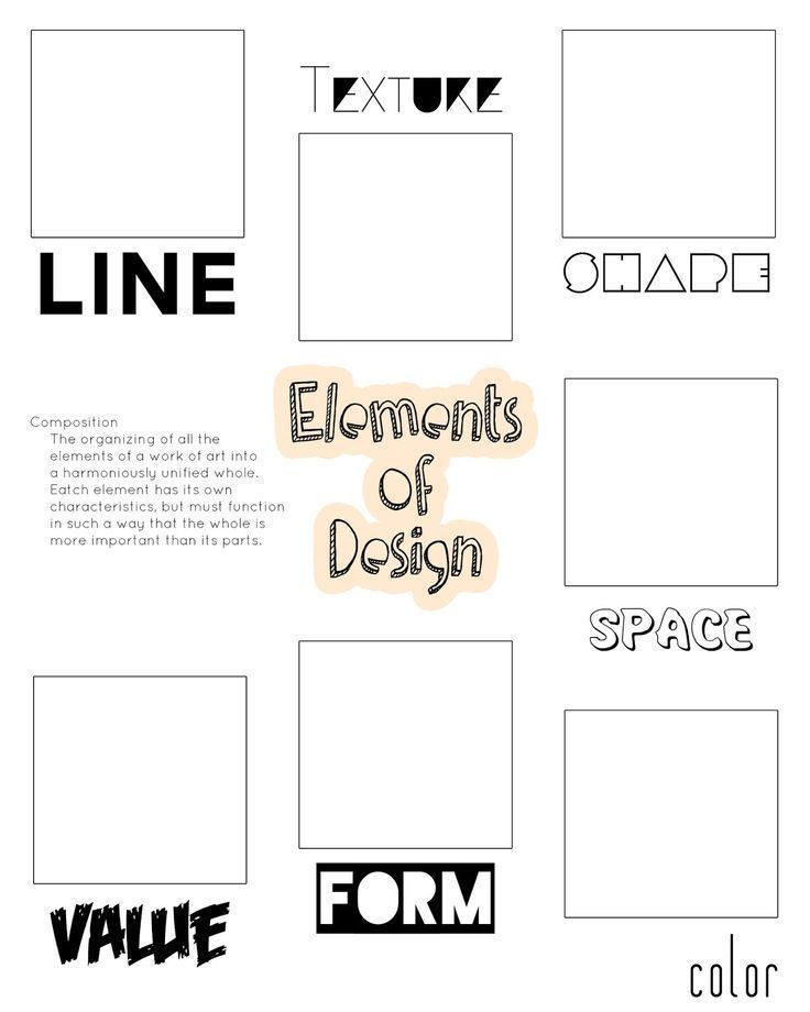 Foreign Languages Elements Foldable Elements Of Art Foldable Elements Of Art Posters Elemen Art Lessons Elementary Elements And Principles Art Worksheets