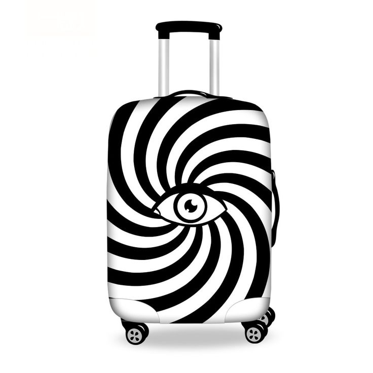 Durable Elastic Travel Accessories Eye Print Luggage Protective Cover Stretchable Suitcase Cover For 18-30 Suitcases Size S/ML