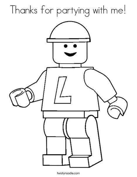 thanks for partying with me coloring page twisty noodle lego coloring pagesprintable - Lego Coloring Pages To Print
