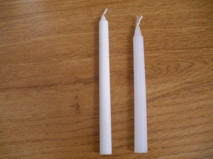velas blancas- materiales para limpiar juntas de azulejos