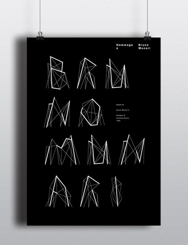 BRUNO MUNARI by ENIKO DERI, via Behance