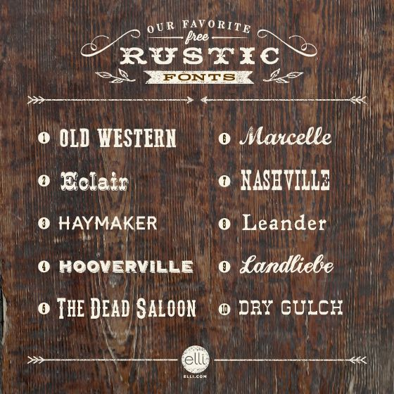 Our Favorite Free Rustic Fonts | The Elli Blog