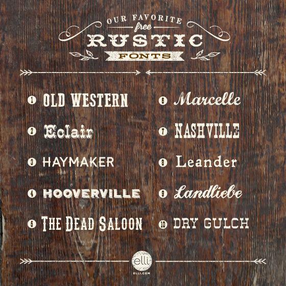 top 10 free rustic fonts