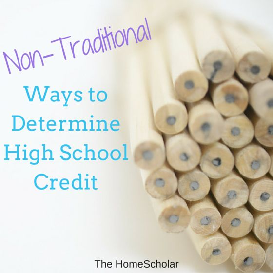 There are many different ways you can determine high school (and sometimes college) credit for your homeschool student. It's one of the great things about homeschooling!