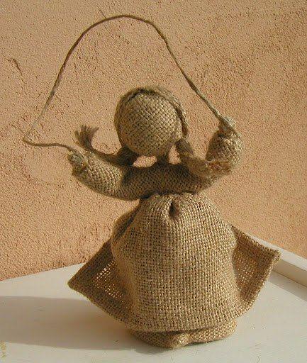 кукла из мешковины