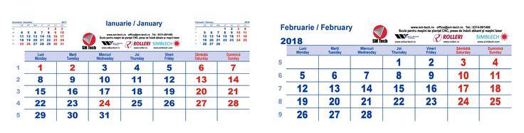 Incredibil ce repede trece si 2017... Foarte curand 2018 ne va bate la usa. Calendarele de birou SM TECH SRL pentru 2018 sunt deja la tipar - doar un scurt mesaj si imediat vom trimite in decembrie unul catre d-voastra.