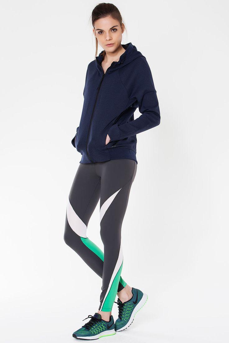 Nike Nike Tech Fleece Full-Zip Hoodie Kadın Kapüşonlu Üst :: 249.00 TL (KDV dahil) 29.12 TL den başlayan taksitlerle
