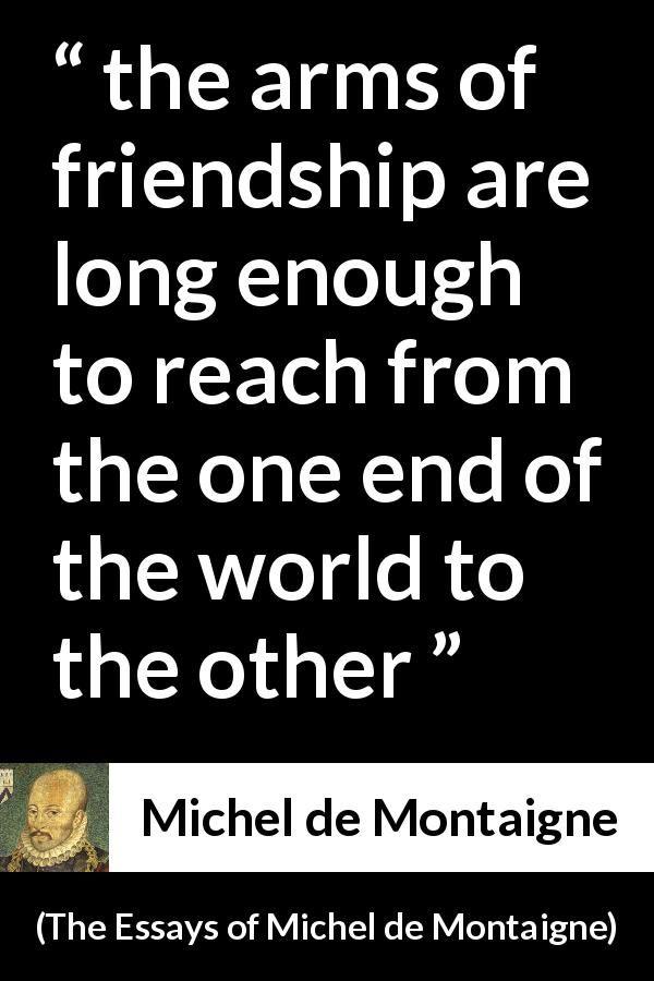 Montaigne essays on friendship social psychology essay questions