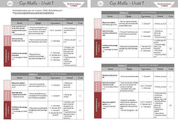 Cap maths ce1 p riodes 1 et 2 math matiques pinterest math and teacher - A portee de maths cm2 en ligne ...