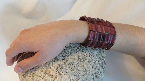 Heat treated copper bracelet created by Sean Ward Jewellery Design. https://www.etsy.com/ca/shop/seanWardjewellery