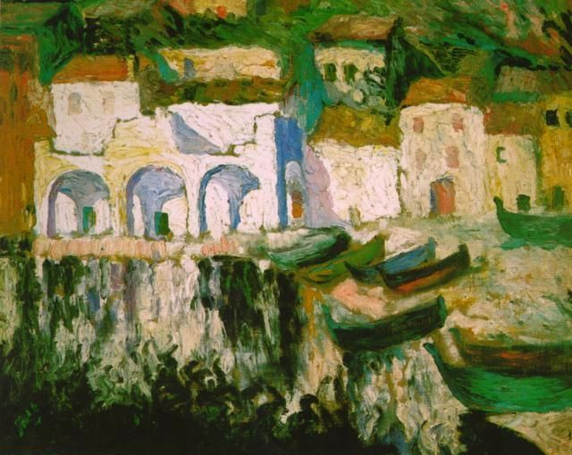 (IMPRESSIONISM) View of Portdogue (Port Aluger), by Salvador Dali, 1920. Style: Impressionism, Genre: landscape