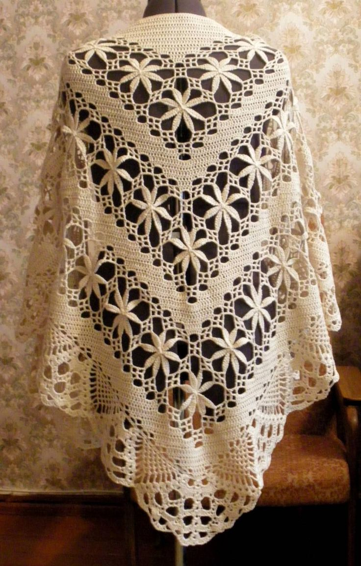 wow!! this is what I call a crochet shawl!! with diagram!!#Repin By:Pinterest++ for iPad#