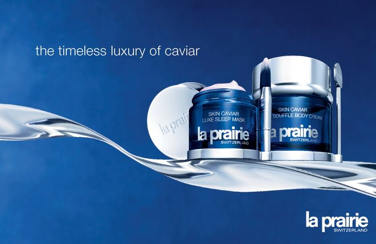 The timeless luxury of caviar... #LaPrairie Skin Caviar Luxe Sleep Mask Skin Caviar Luxe Soufflé Body Cream: two brilliant caviar products to repair and clarify your skin. More information? www.ark.be/pressroom