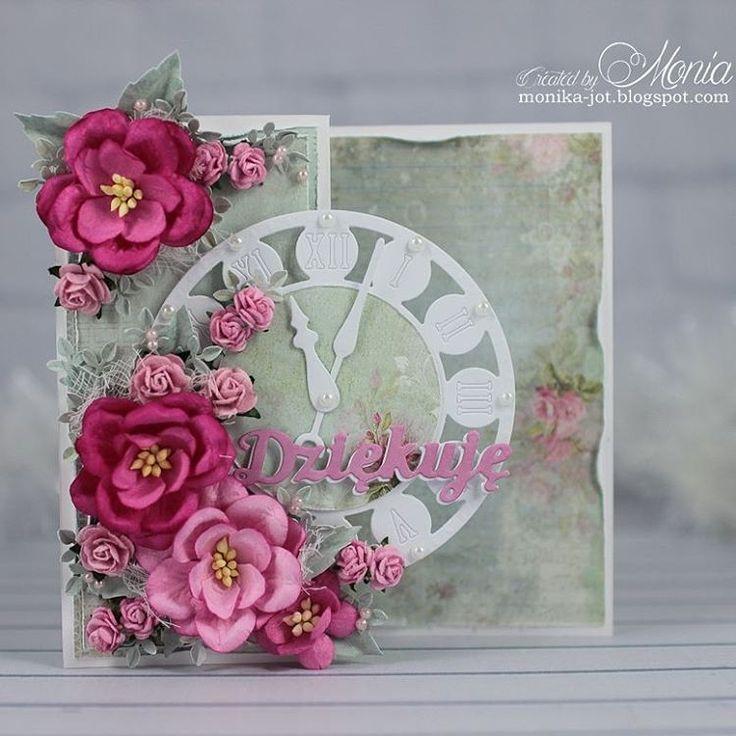 """Thank you card. #handmadecard #handmade #cardmaking #card #scrapbooking #craftandyoudesign #craft #papercraft #dies #mariannedesign #madewithlove…"""