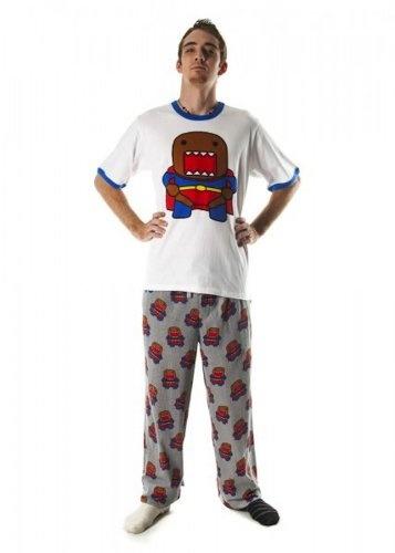Domo Superhero Mens Sleepwear Pant and Tee Set « Clothing Impulse
