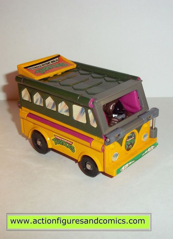 teenage mutant ninja turtles SPLINTER TURTLE NEWS VAN ROAD READY mutations 1993 vintage complete transformer  tmnt