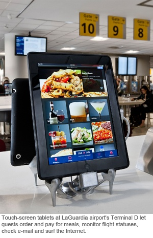 Airport restaurant operator OTG Management builds tablet-based future  Company invests $10M in technology, plans to roll out 7,000 iPads by 2013