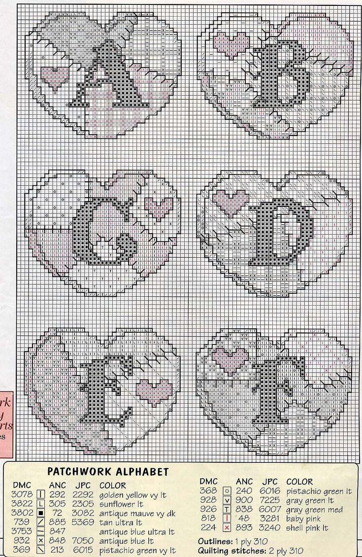 Schema punto croce Abc Patchwork 02