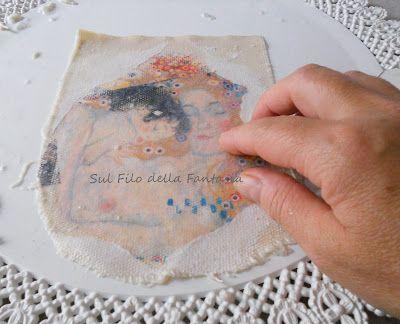 Sul filo della fantasia: Trasferimento immagine su tela.......e Mod Podge casalingo