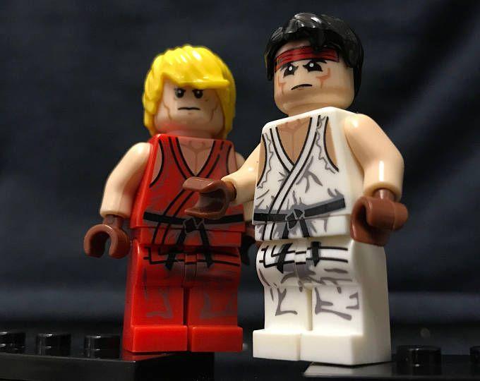 Ryu & Ken Street Fighter Custom Minifigure Set #ad