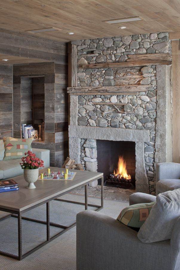 220 best fireplaces using stone images on pinterest fire places mantles and living room - Images of stone fireplaces ...