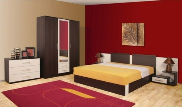 1000 ideas about red accent walls on pinterest red - Bedroom with red accent wall ...