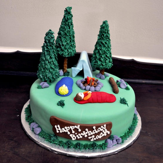 Camping Birthday Cake by Allison Green
