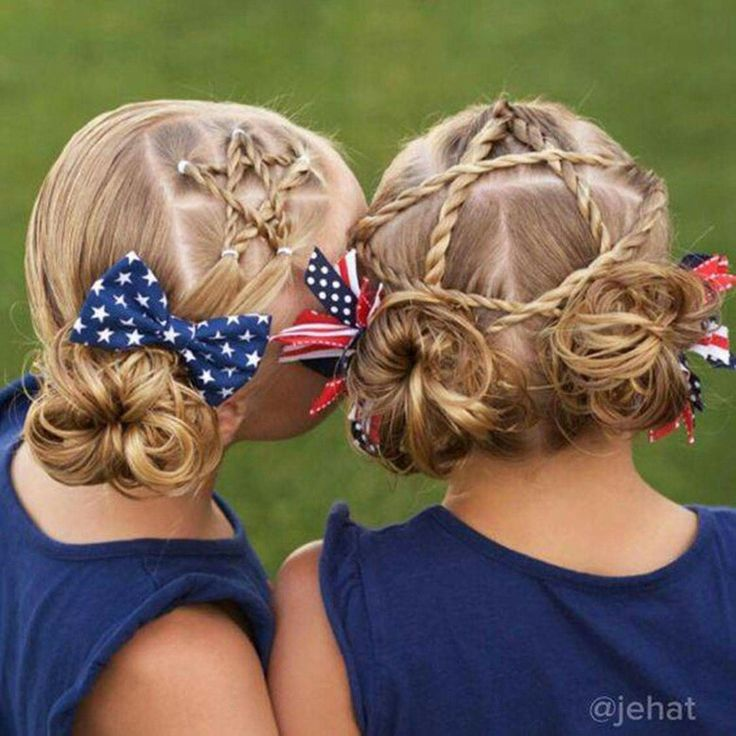 4th of July star hair
