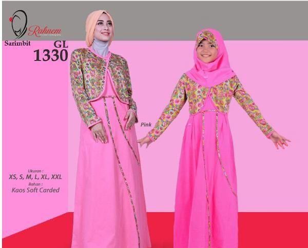 Jual beli Sarimbit Gamis Wanita Rahnem GM 1330 Pink - Promo Ramadhan Sale di Lapak Aprilia Wati - agenbajumuslim. Menjual Baju Muslim Couple - Sarimbit Gamis Wanita Rahnem GM 1330 Pink - Promo Ramadhan Sale Harga : Rp. 324.000  Keterangan Produk:  Kode : GL-1330 READY : ******* Pink (XS, S, M, XL, XXL) ******* Merah (S)  Pilihan Warna: Pink & Merah  Harga : Rp 165.000,- Size : XS, S, M, L, XL, XXL  Rahnem Anak GH-1330 Kode : GH-1330 Warna : Merah & Pink READY : Merah (S,XL,XXL...