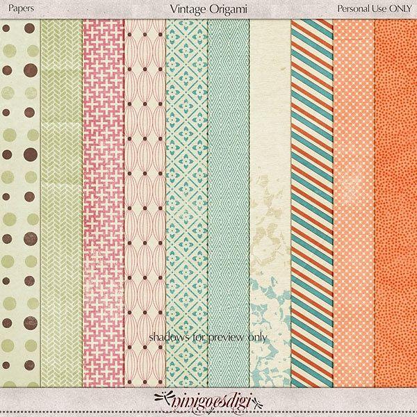 Vintage Scrapbook Paper Packs | Paper Pack Vintage Origami