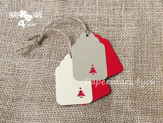 Sale 12 Christmas Tag Kit Tags 3x2_Gift by PaperMark4You on Etsy