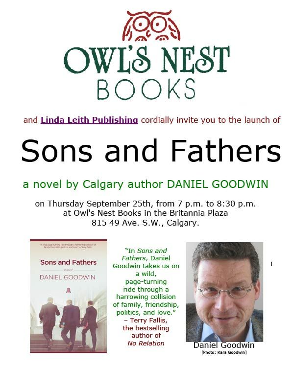 Launch of Sons and Fathers, September 25, 2014