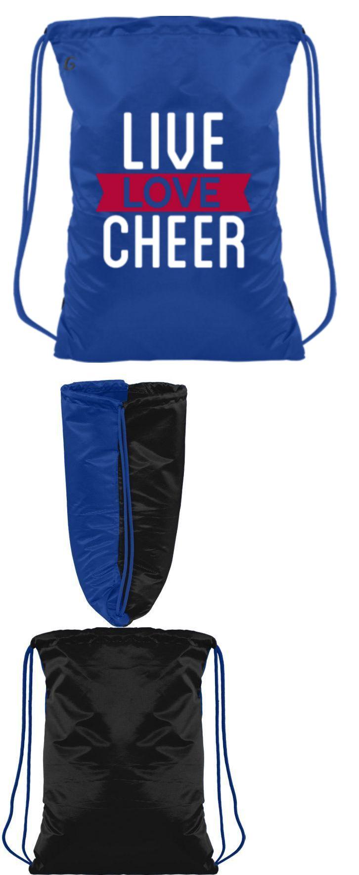e8bac7da15ce Live Love Cheer Cheerleader Drawstring Backpack Cheerleading Blue ...