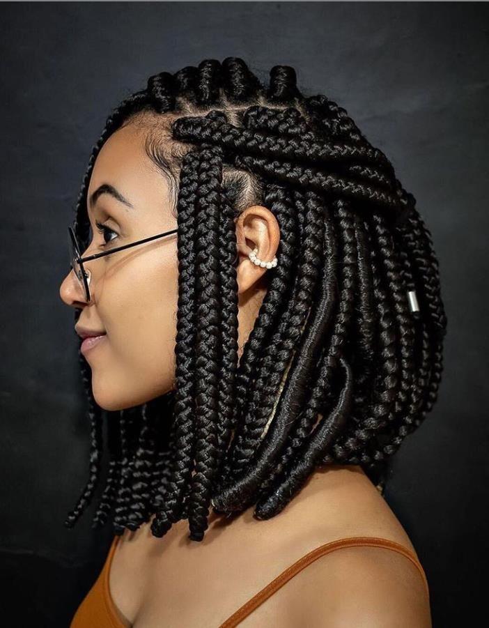 46 Best Braided Hairstyles For Black Women In 2020 Lily Fashion Style Bob Braids Hairstyles Hair Styles Cool Braid Hairstyles