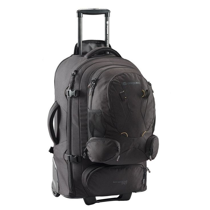 CARIBEE Casual Daypack Sky Master Daybacktrolley 70 Liters Black 105404: Amazon.co.uk: Shoes & Bags