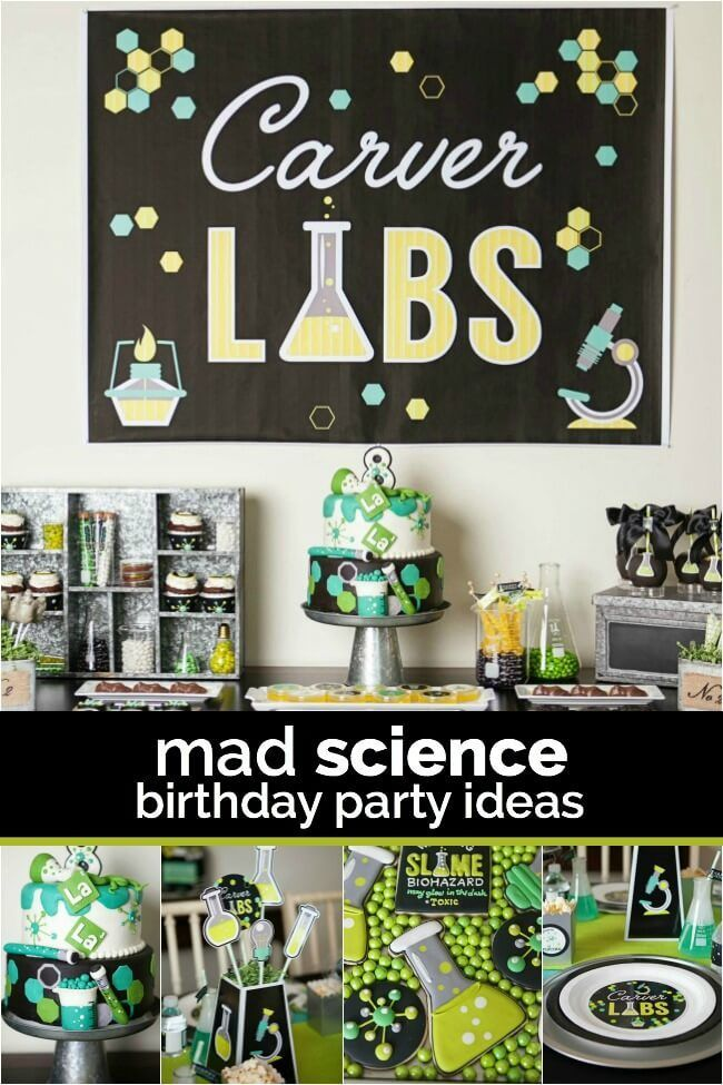 A boys laboratory science birthday party kid parties pinterest a boys laboratory science birthday party filmwisefo
