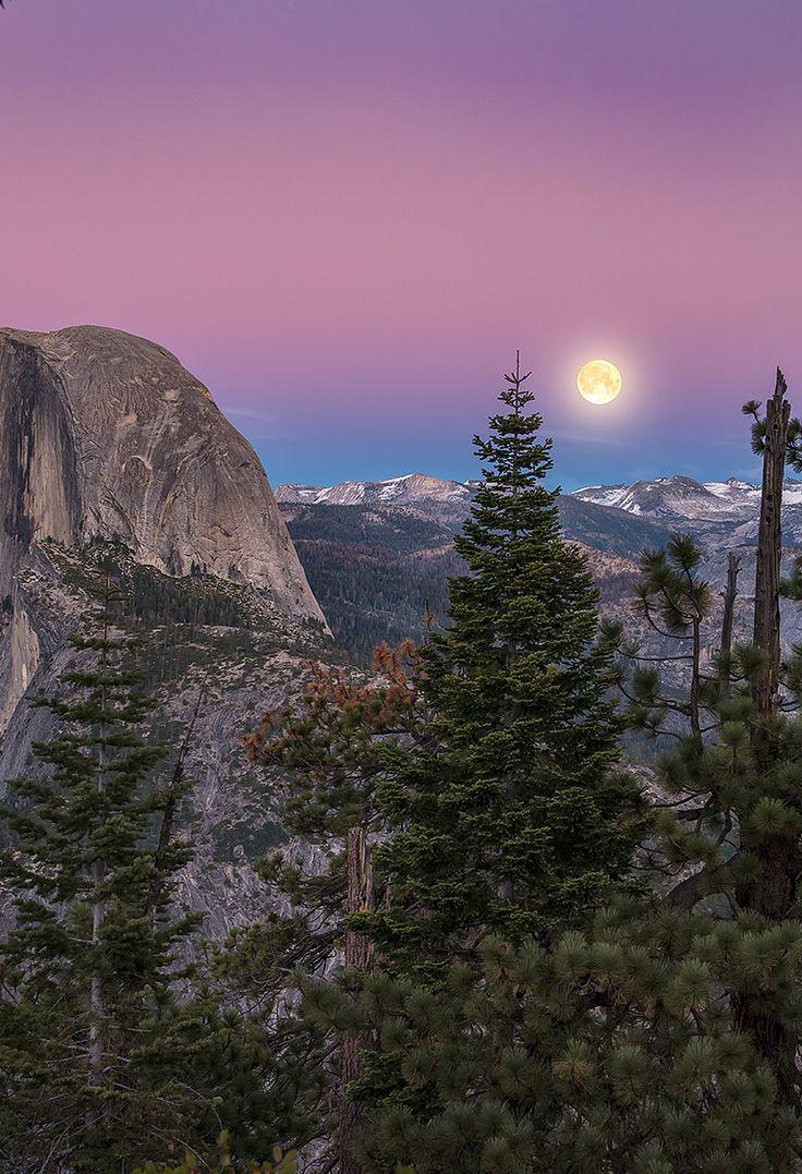 Moonrise over the Sierra Nevada