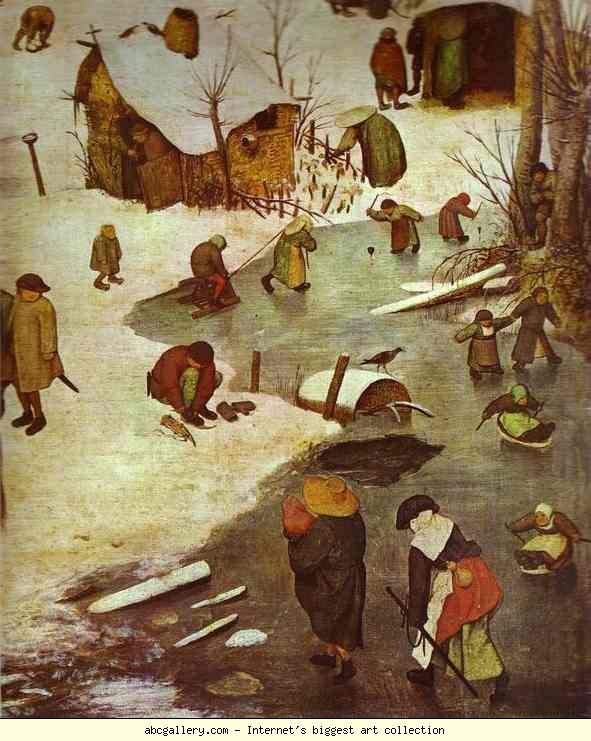Pieter Bruegel the Elder. The Numbering at Bethlehem. Detail. Olga's Gallery.