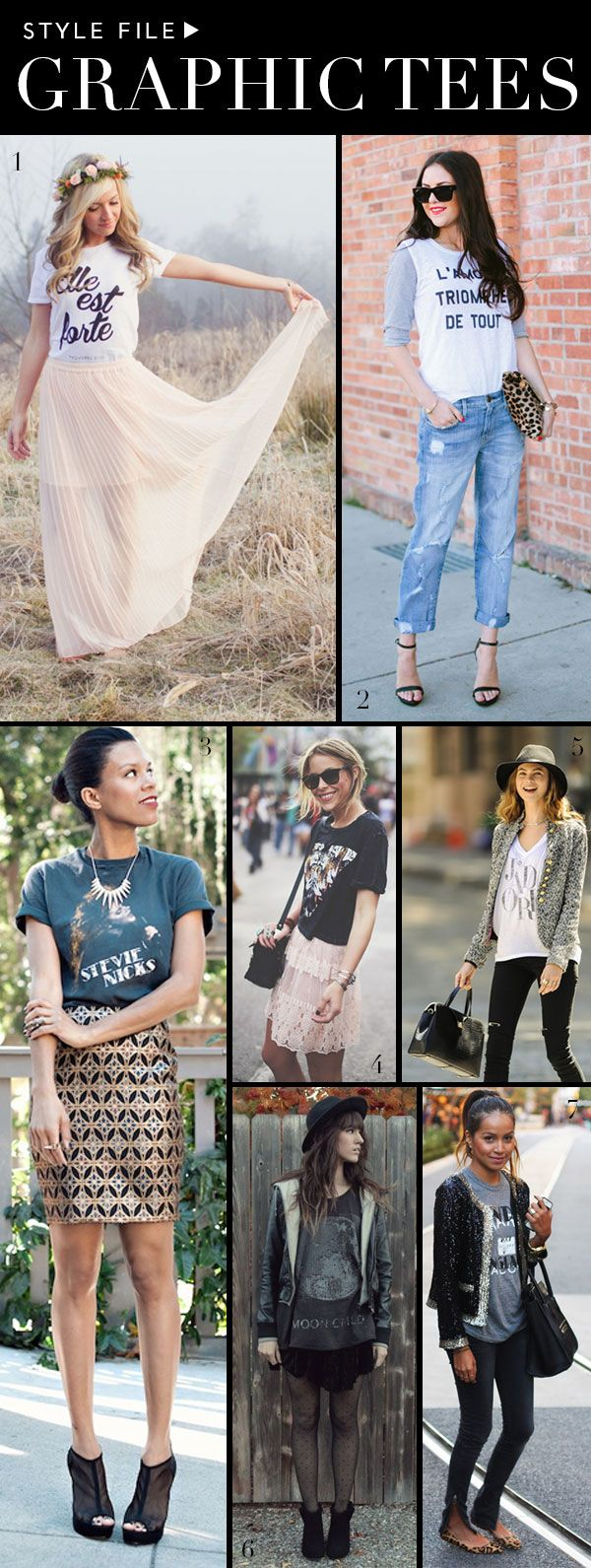 7 Different Ways to Style your Tee: Now you've got a different look for every day of the week! | theglitterguide.com