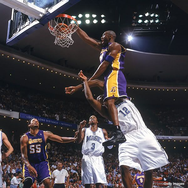 Baptizing the young buck, Kobe over Dwight. I find this a bit ironic.!!! Haha