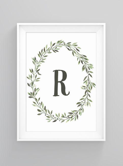 Olive letter | print
