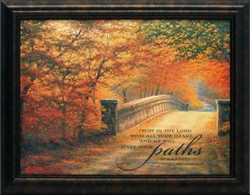 artistic reflections trust in the lord wholesale framed inspirational autumn landscape art print - Wholesale Art And Frames