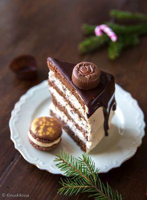 Kinuskikissan suklaaputouskakku