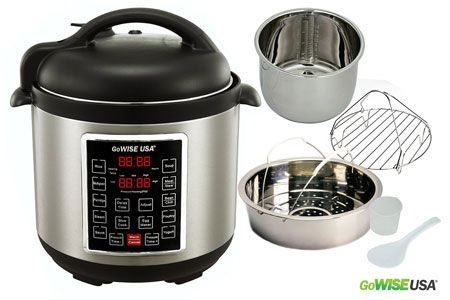 9. GoWise USA gw22623 1300W 4TH Generation Electric Pressure Cooker