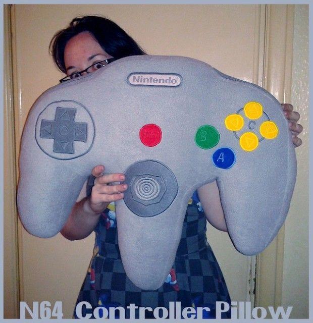 Nintendo 64 controller pillow