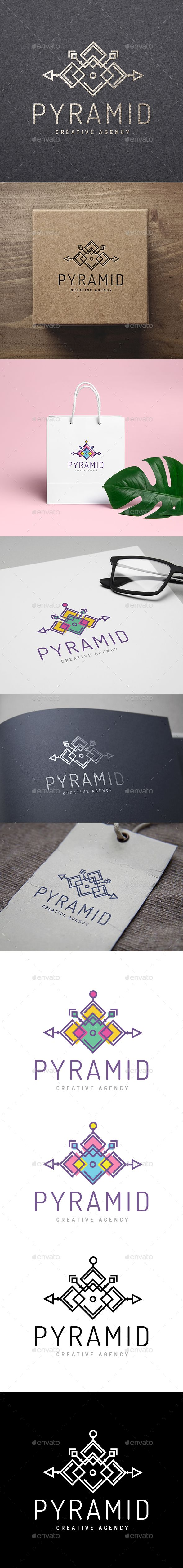 Pyramid Ethnic Logo  — EPS Template #boho #creative • Download ➝ https://graphicriver.net/item/pyramid-ethnic-logo/18392531?ref=pxcr