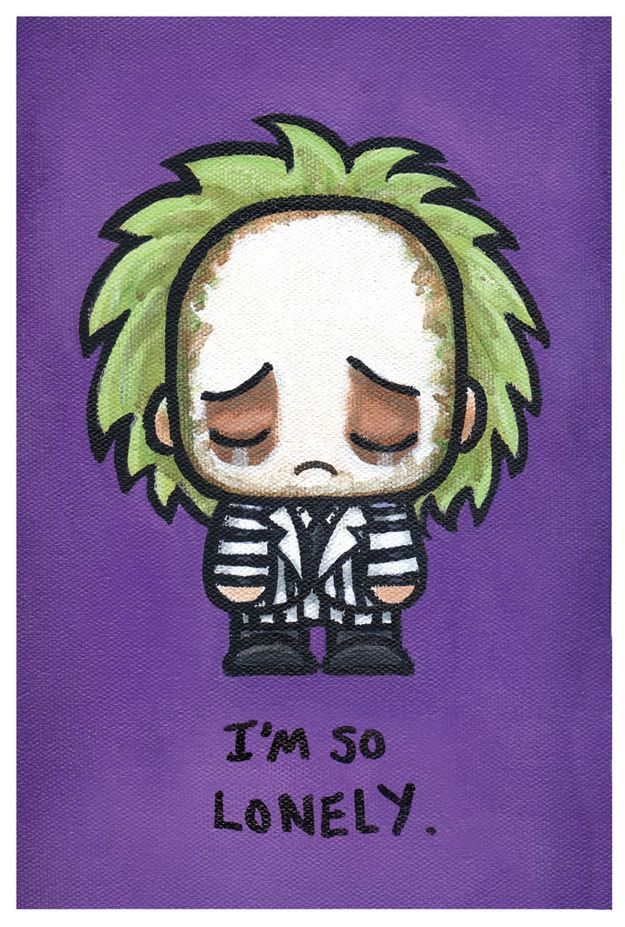 Beetlejuice | 17 Adorably Emo Paintings Of Your Favorite Pop Culture Icons
