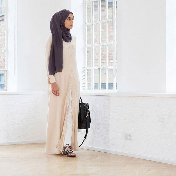 INAYAH | Cream Maxi Shirt #Abaya + Charcoal Georgette #Hijab +White Tapered #Trousers #inayahclothing #modeststyle #modesty #modestfashion #hijabfashion #hijabi #hijabifashion #covered #Hijab #jacket #midi #dress #dresses #islamicfashion #modestfashion #modesty #modeststreestfashion #hijabfashion #modeststreetstyle #modestclothing #modestwear #ootd #cardigan #springfashion #INAYAH #covereddresses #scarves #hijab #style