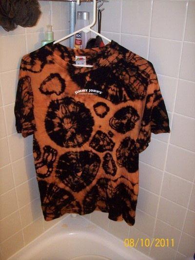 How to dye a tie dye t-shirt. Reverse Tie Dye Black T Shirt - Step 6
